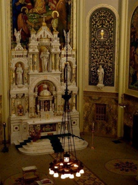 High altar at Saint Joseph Chapel, Milwaukee